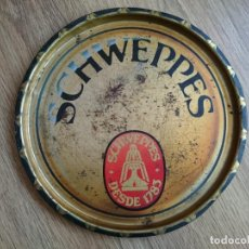 Coleccionismo de Coca-Cola y Pepsi: ANTIGUA CHAPA O BANDEJA DE SCHWEPPES. Lote 64367235