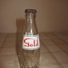 Coleccionismo de Coca-Cola y Pepsi: BOTELLA VIDRIO REFRESCO - COLA GOLD - RARA - CON CHAPA -. Lote 64447007