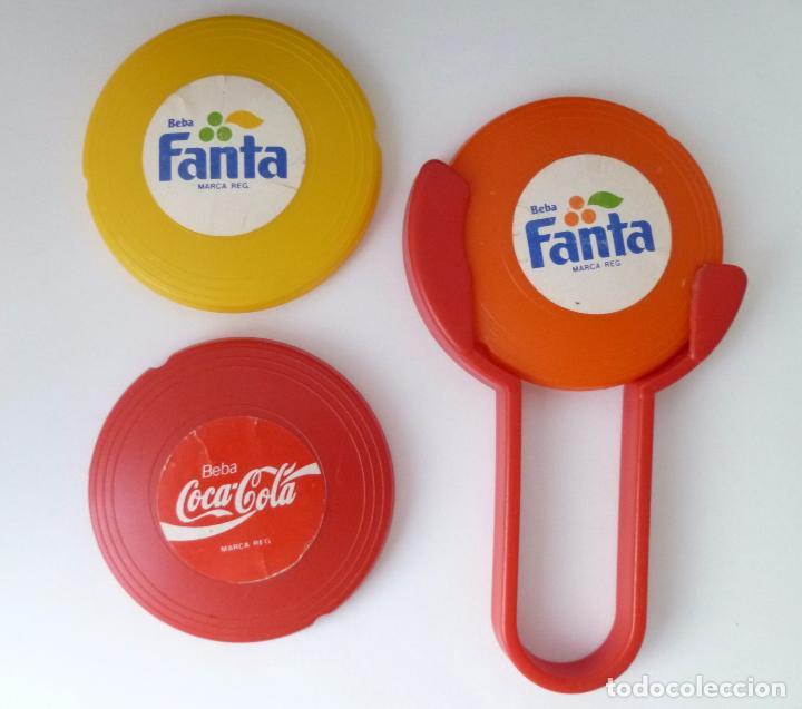 MINI FRISBEES PROMOCIÓN COCA COLA Y FANTA -COMPLETO- AÑOS 80 (Coleccionismo - Botellas y Bebidas - Coca-Cola y Pepsi)
