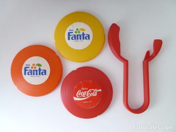 Coleccionismo de Coca-Cola y Pepsi: MINI FRISBEES PROMOCIÓN COCA COLA Y FANTA -COMPLETO- AÑOS 80 - Foto 9 - 62646764