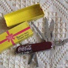 Coleccionismo de Coca-Cola y Pepsi: NAVAJA MULTIUSOS NUEVA COCA-COLA CON CAJA ORIGEN . Lote 68009281