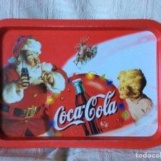 Coleccionismo de Coca-Cola y Pepsi: NAVIDEÑA BANDEJA DE COCA COLA. AUTÉNTICA DE LOS AÑOS 70. Lote 68225733