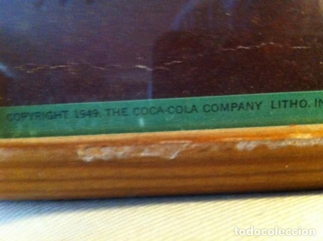 Coleccionismo de Coca-Cola y Pepsi: 1949 Coca-Cola Cardboard Sign. Lunch Refreshed. Original. 71X43 cms framed/Antiguo Cartel Coca-Cola - Foto 4 - 68365029