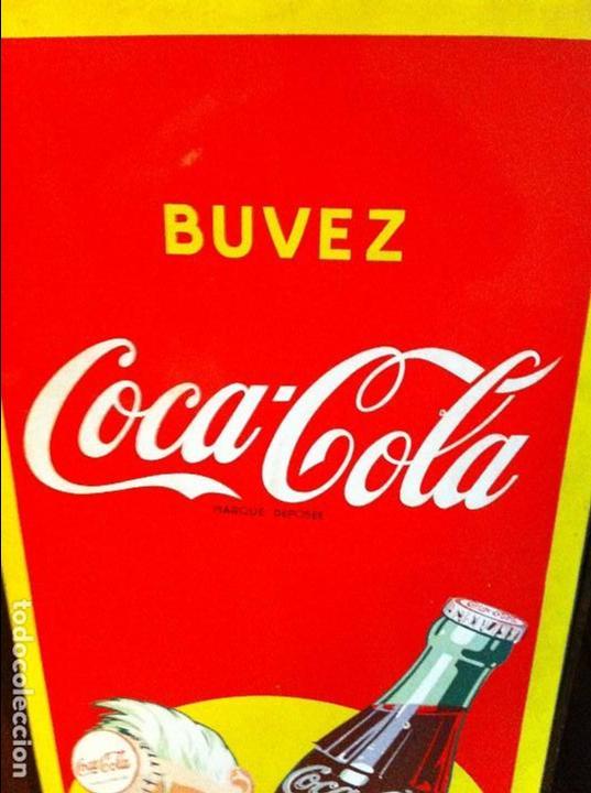 Coleccionismo de Coca-Cola y Pepsi: Vintage 1956 Coca-Cola Sprite Boy Porcelain French Sign. Original. 137X46cms / Placa esmaltada Coke - Foto 5 - 68366321