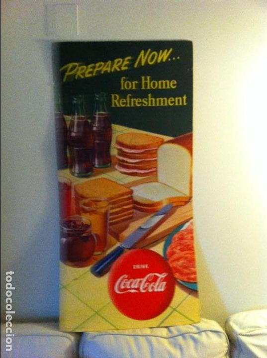 Coleccionismo de Coca-Cola y Pepsi: Vintage 1952 Coca-Cola Cardboard Display Sign. Sandwiches.Original/Antiguo Cartel Coke 115X56cms - Foto 3 - 68368689