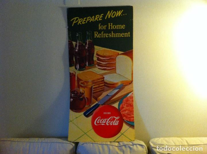 Coleccionismo de Coca-Cola y Pepsi: Vintage 1952 Coca-Cola Cardboard Display Sign. Sandwiches.Original/Antiguo Cartel Coke 115X56cms - Foto 4 - 68368689