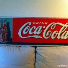 Coleccionismo de Coca-Cola y Pepsi: ANTIQUE 1930S COCA-COLA TIN SIGN. ORIGINAL/ANTIGUA PLACA CHAPA LETRERO COCA-COLA 137X46 CMS. Lote 68373021