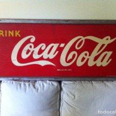 Coleccionismo de Coca-Cola y Pepsi: 1948 COCA-COLA TIN SIGN. ORIGNAL. FRAMED/ANTIGUA PLACA CHAPA LETRERO COCA COLA 150X60CMS. Lote 68376413