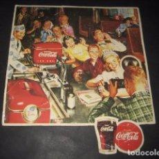 Coleccionismo de Coca-Cola y Pepsi: ANTIGUO CARTON PUBLICIDAD COCA-COLA COKE. AÑOS 50. Lote 69550797