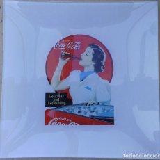 Coleccionismo de Coca-Cola y Pepsi: PLATO DE CRISTAL CON IMAGEN RETRO DE COCA-COLA MIRA LAS FOTOS PARA VER LAS MEDIDAS. Lote 69758021