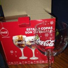 Coleccionismo de Coca-Cola y Pepsi: DOS COPAS DE CRISTAL DE COCA COLA . Lote 70591289