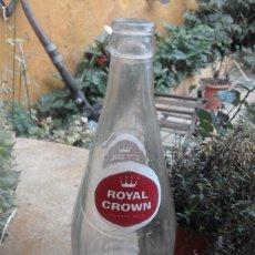 Coleccionismo de Coca-Cola y Pepsi: ANTIGUA BOTELLA DE REFRESCO GASEOSA ROYAL CROWN SERIGRAFIADA MAS RELIEVE 709 CC AGUA FIRGAS CANARIAS. Lote 71564039