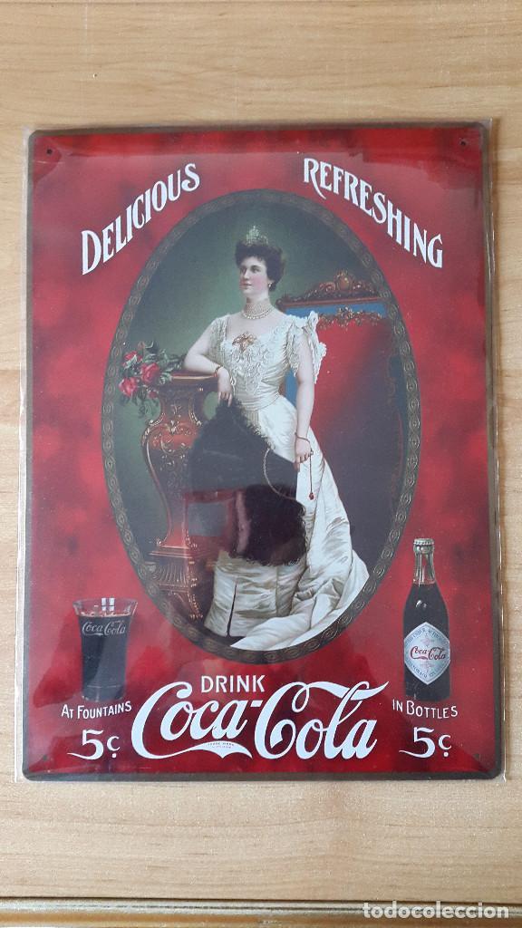 Chapa lamina cartel coca cola delicious r comprar - Chapa coca cola pared ...