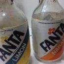 Coleccionismo de Coca-Cola y Pepsi: BOTELLA FANTA NARANJA Y LIMÓN DE FANTA DE TERMOETIQUETA AÑOS 80. Lote 75112419