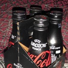 Coleccionismo de Coca-Cola y Pepsi: COCA COLA ZERO LOTE 4 BOTELLINES ALUMINIO EURO 2016 . Lote 77409885