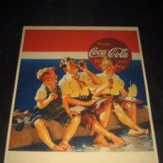 Coleccionismo de Coca-Cola y Pepsi: CARTEL PUBLICITARIO COCA-COLA. Lote 77839917