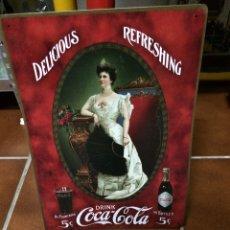 Coleccionismo de Coca-Cola y Pepsi: CARTEL RETRO VINTAGE METÁLICO DE COCA COLA. Lote 78426058