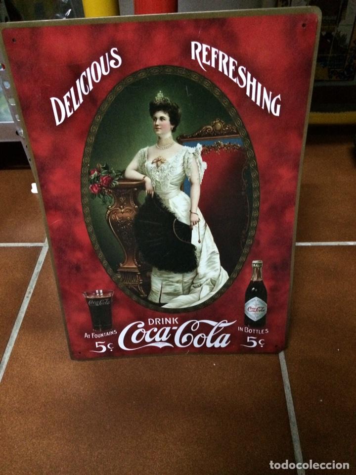 Coleccionismo de Coca-Cola y Pepsi: CARTEL RETRO VINTAGE METÁLICO DE COCA COLA - Foto 2 - 78426058