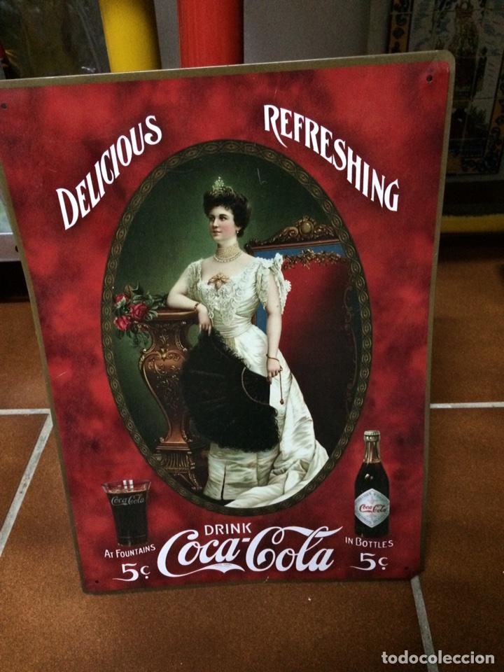Coleccionismo de Coca-Cola y Pepsi: CARTEL RETRO VINTAGE METÁLICO DE COCA COLA - Foto 3 - 78426058