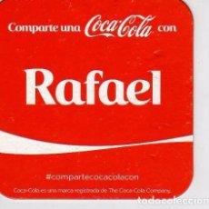 Coleccionismo de Coca-Cola y Pepsi: POSAVASOS CON NOMBRE RAFAEL, DE COCA COLA.. Lote 58341417