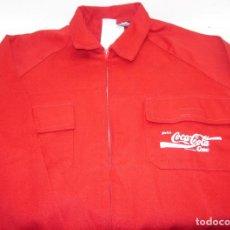 Coleccionismo de Coca-Cola y Pepsi: CHAQUETA ROJA,TELA VAQUERA,COCA-COLA,DE TRABAJADORES DE FÁBRICA,AÑOS 80,RETRO,VINTAGE,MADE IN SPAIN. Lote 80297013