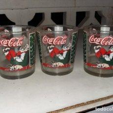 Coleccionismo de Coca-Cola y Pepsi: 3 VASOS COCACOLA NAVIDAD ANTIGUOS. Lote 80316853