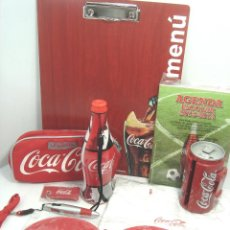 Coleccionismo de Coca-Cola y Pepsi: LOTE 9 ARTICULOS PROMOCION COCA-COLA-AGENDA,BUBUCELA,CASETTE,CAMISETA,BOLIGRAFO....ETC COKE COCACOLA. Lote 80702726
