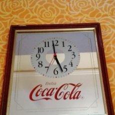 Coleccionismo de Coca-Cola y Pepsi: CUADRO ESPEJO COCA COLA CON RELOJ. Lote 194916762