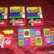 Coleccionismo de Coca-Cola y Pepsi: LOTE DE 6 POSAVASOS COCA-COLA - CHAPA / CORCHO. Lote 82392764
