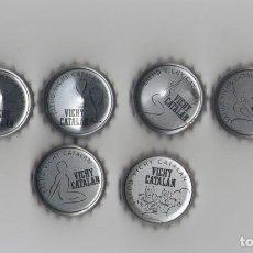 Coleccionismo de Coca-Cola y Pepsi: 6 CHAPAS DE VICKY CATALAN, LOTE COMPLETO. Lote 83535700