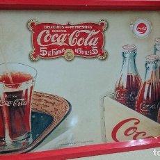 Coleccionismo de Coca-Cola y Pepsi: BANDEJA DE CHAPA, COCA-COLA,DIBUJO RETRO. Lote 83552612