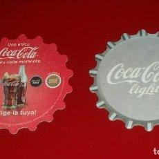 Coleccionismo de Coca-Cola y Pepsi: POSAVASOS COCA-COLA LIGHT LOTE DE 6 UNIDADES . Ø 9CM .FORMA DE CHAPA. NUEVOS, NUNCA USADOS. CARTÓN. Lote 83567728