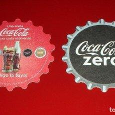 Coleccionismo de Coca-Cola y Pepsi: POSAVASOS COCA-COLA ZERO LOTE DE 6 UNIDADES . Ø 9CM .FORMA DE CHAPA. NUEVOS, NUNCA USADOS. CARTÓN. Lote 83568236
