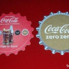 Coleccionismo de Coca-Cola y Pepsi: POSAVASOS COCA-COLA ZERO ZERO LOTE 6 UNIDADES . Ø 9CM .FORMA DE CHAPA. NUEVOS, NUNCA USADOS. CARTÓN. Lote 83569620