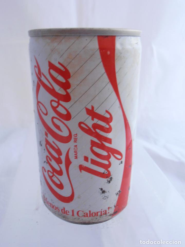 lata coca-cola light, vacia, coke light, años 8 - comprar