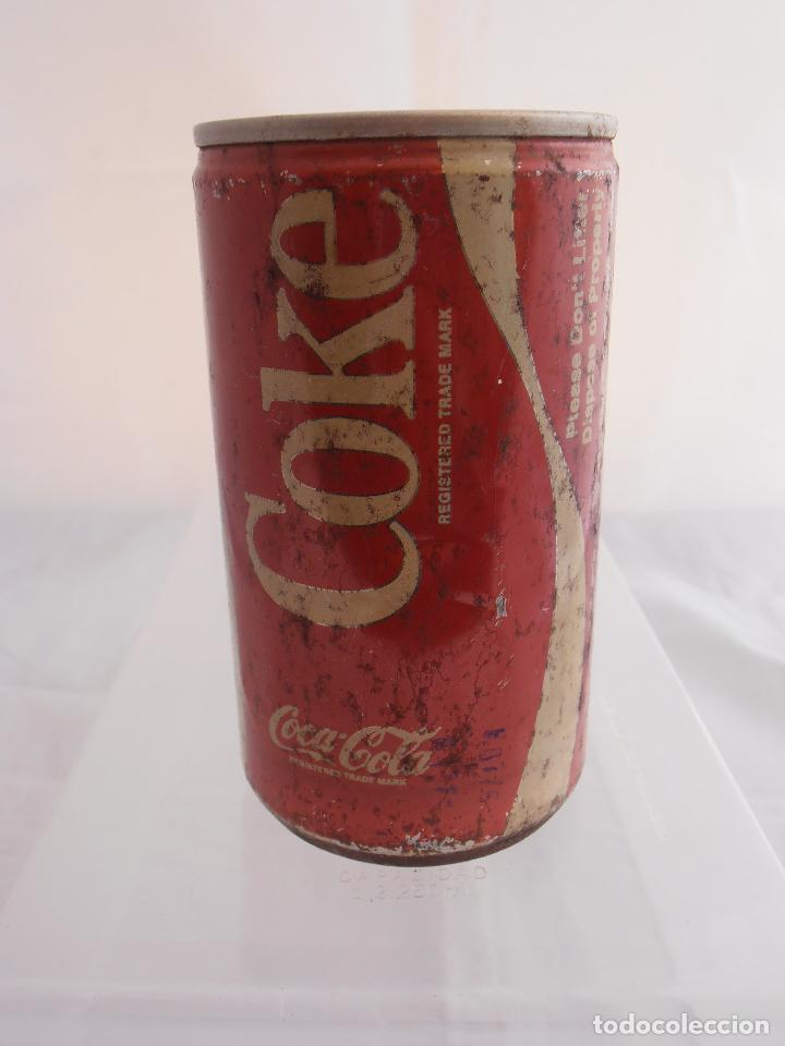 LATA COKE, VACIA, COCA-COLA, AÑOS 80 (Coleccionismo - Botellas y Bebidas - Coca-Cola y Pepsi)