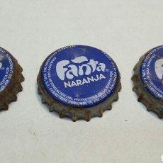 Coleccionismo de Coca-Cola y Pepsi: LOTE 3 CHAPAS ANTIGUAS FANTA DISTINTAS. Lote 84133930