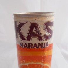 Coleccionismo de Coca-Cola y Pepsi: LATA BEBIDA KAS NARANJA, DOS TAPAS Y LATERAL SOLDADO AÑOS 70 . Lote 84151408