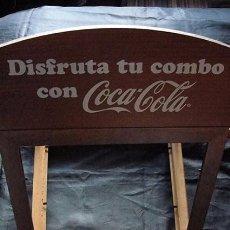 Coleccionismo de Coca-Cola y Pepsi: EXPOSITOR PUBLICIDAD COMBO COCA COLA - 3 MARCOS DE MADERA -. Lote 84926320