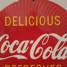 Coleccionismo de Coca-Cola y Pepsi: MUY RARA PLACA CHAPA COCA COLA DE USA USA VERY RARE COCA COLA BUTTON SIGN. Lote 85107608