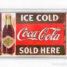 Coleccionismo de Coca-Cola y Pepsi: IMAN ACRILICO NEVERA - COCA COLA ICE COLD SOLD HERE. Lote 145479976