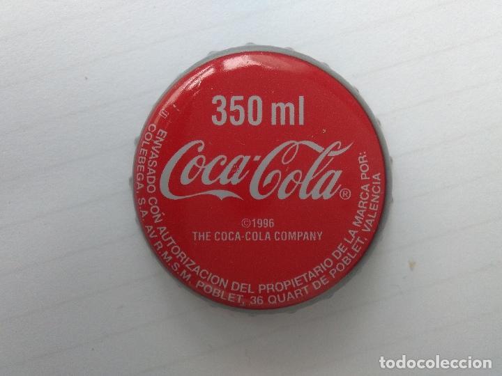 CHAPA COCA-COLA 350 ML. VALENCIA - FACTORIA U 1996 (Coleccionismo - Botellas y Bebidas - Coca-Cola y Pepsi)