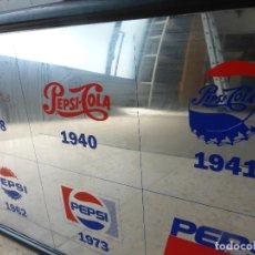 Coleccionismo de Coca-Cola y Pepsi: CUADRO ESPEJO PUBLICIDAD DE PEPSI COLA-MARCA EN DIFERENTES AÑOS -1898-1940-1941-1962-1973-1992. Lote 86234532