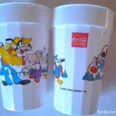 Coleccionismo de Coca-Cola y Pepsi: LOTE DOS VASOS DE PLÁSTICO RIGIDO, ENJOY COCA-COLA, EPCOT CENTER, DISNEY WORLD,ORLANDO FLORIDA, 1988. Lote 86995764