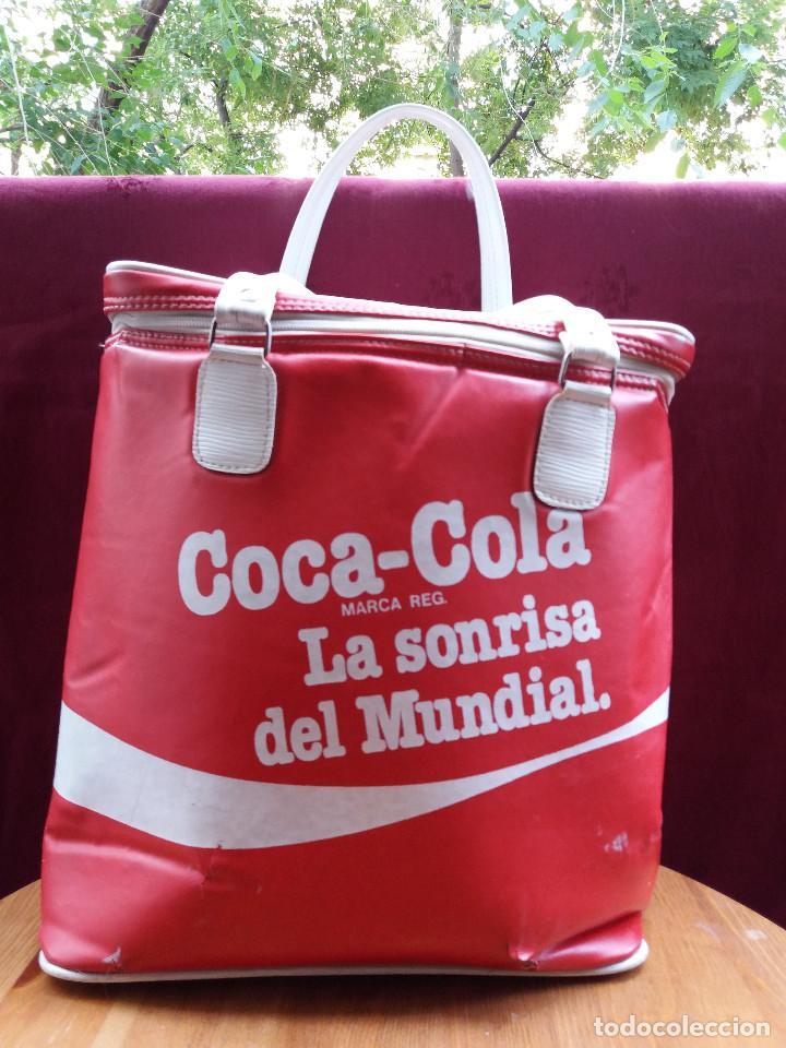 Coleccionismo de Coca-Cola y Pepsi: NEVERA COCA COLA MUNDIAL 82, CON DOS ASAS - Foto 3 - 87662072