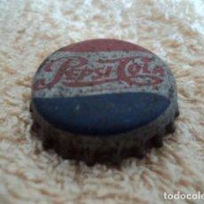 Coleccionismo de Coca-Cola y Pepsi: PRECIOSA CHAPA ANTIGUA PEPSI COLA EN METAL CON SIGNOS DE USO Y ANTIGUEDAD . Lote 87841608