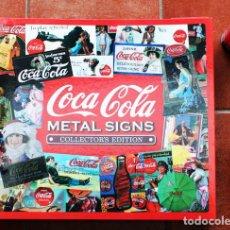 Coleccionismo de Coca-Cola y Pepsi: IMPRESIONANTE CARPETA O CARTAPACIO COCA COLA METAL SIGNS COLLECTOR EDITION 45 X 50 CM CON 10 HOJAS . Lote 88362072