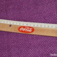Coleccionismo de Coca-Cola y Pepsi: ANTIGUA REGLA DE MADERA - PUBLICIDAD BEBA COCACOLA - 20 CM - PRECIOSA - HAZME OFERTA. Lote 90822200