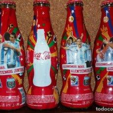 Coleccionismo de Coca-Cola y Pepsi: SET POR 4 BOTELLAS COCA COLA MUNDIAL SUDAFRICA 2010. Lote 182588623