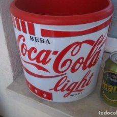 Coleccionismo de Coca-Cola y Pepsi: ANTIGUA CUBITERA DOS PIEZAS BEBA COCA COLA LIGHT ESPECIAL COLECCIONISTAS. Lote 90901065